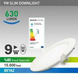 Next Led 9w Slim Panel